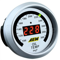 AEM - Oil Temp/Water Temp/ Transmission Temp Gauge 100-300F Black Face or White Face