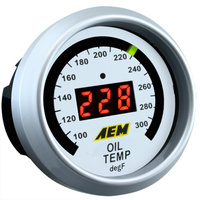 AEM - Transmission Temp Gauge 100-300F Black Face or White Face