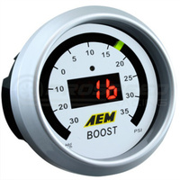 AEM - Boost Gauge 50 psi Black Face or White Face