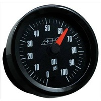 AEM Oil Pressure Gauge 0-100PSI w/Analog Face