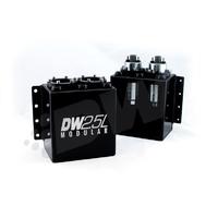 Deatschwerks 2.5L Modular Surge Tank with Twin 250il Fuel Pumps (incl) E85 Compatible