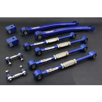 Hardrace 10 Piece Kit suit Subaru WRX STI GC8 97-00, Trailing arms, Latteral Links, Sway bar Links with Spherical Bearings