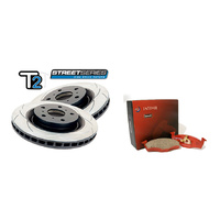 "DBA Subaru WRX MY15 VA ""T2"" Series Front and Rear Rotors with Intima SS Pads"