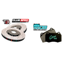 "DBA 5000 ""T3"" suit Subaru WRX STI Brembo MY01-15 with Project Mu RC09 Club Racer"