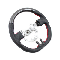 DTM Performance Toyota 86/Subaru BRZ D Shape Steering Wheel Leather/Carbon w/Red Stitching