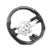 DTM Performance 2015+ Mustang D Shape Steering Wheel Leather/Carbon w/Red Stitching