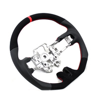 DTM Performance 2015+ Mustang D Shape Steering Wheel Leather/Suede w/Red Stitching