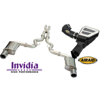 "Invidia Q300 3.0"" RACE Cat Back System & Airaid Intake Combo Mustang GT"