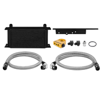 Mishimoto Nissan 350Z, 2003-2009 / Infiniti G35, 2003-2007 (Coupe only) Oil Cooler Kit BLACK Thermostatic