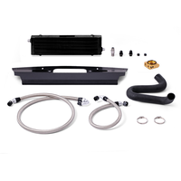 Mishimoto Ford Mustang GT Oil Cooler BLACK with Thermotstatic Plate