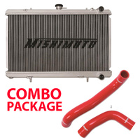 Mishimoto Radiator suit Subaru WRX 08-14/STI 08-17/ FXT 08-13/ Liberty BL5 with Radiator Hoses Combo RED