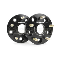 Wheel Spacers 20mm DRM Style for 05-17 STI or 5-114.3, 56mm Hub Black Anodized