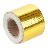 "Torque Solution Gold Reflective Heat Tape: Universal 2"" x 15'"