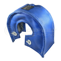 Torque Solution Thermal Turbo Blanket (Blue): Fits T3, T3/T4, T25, T28, GT25, GT28, GT30, GT32, GT35, GT37 Turbo Back Housings