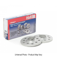 H&R Trak+ DR Wheel Spacers PAIR 5mm Silver - BMW 1 Series E82,E88/3 Series E36,E46,E90/5 Series E60/X4/X5M/X6