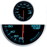 DEFI 60mm Advanced BF Blue with control unit, Turbo, Water temp and Oil temp