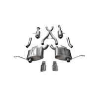 "Corsa Sport 2.5"" Dual Rear Exit Catback Exhaust System 4.5"" Tips - Jeep Grand Cherokee 5.7L 11-19"