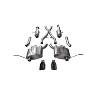 "Corsa Sport 2.5"" Dual Rear Exit Catback Exhaust System 4.5"" Black Tips - Jeep Grand Cherokee 5.7L 11-19"