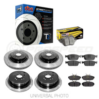 DBA T2 Slotted Front/Rear Rotors w/Hawk Performance Ceramic Pads - Jeep SRT WK2 11-19