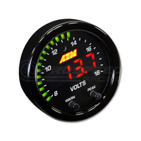AEM X-Series Digital 8-18V Volts Display Gauge