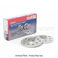 H&R Trak+ DR Wheel Spacers PAIR 15mm Silver - Audi Q7 4L/Bentley Bentayga/Porsche 911/Panamera/Boxster/Cayman