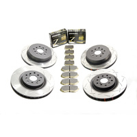 DBA 4000 T3 Rotors/Dixcel Type Z Pads Subaru STI 08-17 Front and Rear