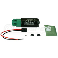 AEM 340lph E85 High Flow In-Tank Fuel Pump (65mm, Hooks, Offset Inlet), WRX/STI/FXT/LGT, R35 GTR