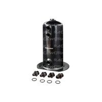 Raceworks 2.5L Surge Tank AN-8 Single Outlet Black