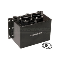 Raceworks 3L Surge Tank Kit Black Suit Twin 044