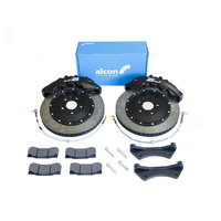Alcon 6-Piston CAR70 RC6 Front Brake Kit, Black Calipers - Honda Civic Type-R FN2