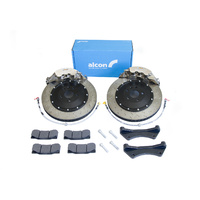 Alcon 6-Piston 1-Piece Billet CAR89 Front Brake Kit - Honda Civic Type-R FD2