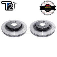 DBA T2 Series Slotted Front Rotors PAIR - Holden Commodore VE/VF (V6)