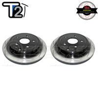 DBA T2 Series Slotted Rear Rotors PAIR - Holden Commodore VE/VF Inc Calais, Berlina