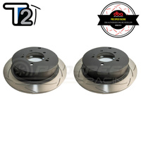 DBA T2 Series Slotted Rear Rotors PAIR - Mitsubishi Lancer CJ Inc Ralliart/ASX/Outlander
