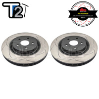 DBA T2 Street Series Slotted Front Rotors PAIR - Jeep Grand Cherokee SRT/SRT-8 WH/WK2 06-20 (Brembo)