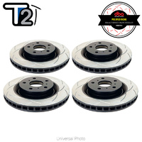 DBA T2 Street Series Slotted Front/Rear Rotors SET - Jeep Grand Cherokee SRT/SRT-8 WH/WK2 06-19 (Brembo)