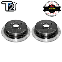 DBA T2 Street Series Slotted Rear Rotors PAIR - Subaru WRX 08-20/Forester SH/Impreza/Liberty/Toyota 86 GT