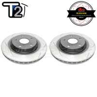DBA T2 Series Slotted Front Rotors PAIR - Toyota Camry 06-17/RAV4 05-19/Lexus ES300h/ES350/RX300
