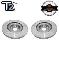 DBA T2 Street Series Slotted Front Rotors PAIR - VW Golf Mk5/Mk6/Passat B6/B7/Scirocco/Audi A3 8P/S3 8P