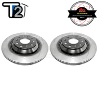 DBA T2 Street Series Slotted Rear Rotors - VW Golf GTI/R Mk5/6/7/Passat/Scirocco/Audi A3/S3/RS3/TT