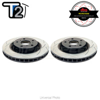 DBA T2 Street Series Slotted Front Rotors PAIR - VW Golf GTI/R Mk7/Passat B7/B8/Audi A3 8V/S3 8V/TT 8J/TT 8S