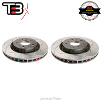 DBA T3 4000 Series Slotted Rear Rotors PAIR - HSV Clubsport/GTS/Maloo (AP Front Caliper)