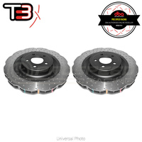 DBA T3 4000XD Wave Series Drilled/Dimpled Rear Rotors PAIR - Ford Mustang GT/Ecoboost FM/FM 15-19