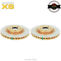 DBA HD 4000XS Series Drilled/Slotted Front Rotors PAIR - Nissan 370Z, Skyline V36/Infiniti G37, Q50, Q60, Q70