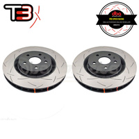 DBA T3 4000 Series Slotted Front Rotors PAIR - Holden Commodore SS-V Redline VE/VF (Brembo)
