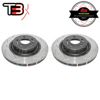 DBA T3 4000 Series Slotted Front Rotors PAIR - Jeep Grand Cherokee SRT WH/WK2 06-19 (Brembo)