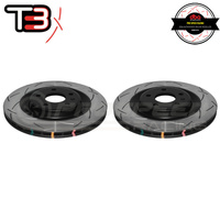 DBA T3 4000 Series Slotted Rear Rotors PAIR - Audi A4, S4 08+/A5, S5 08+/A6, S6 11+/A7, S7 11+
