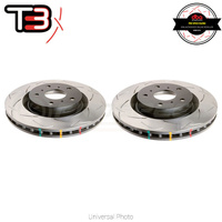 DBA T3 4000 Series Slotted Rear Rotors PAIR - Honda Civic Type-R FK8 17+
