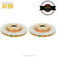 DBA HD 4000XS Series Slotted/Cross Drilled Front Rotors PAIR - Mitsubishi Evo 4/Lancer Ralliart/Legnum VR4/Galant VR4