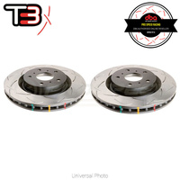 DBA T3 4000 Series Slotted Rear Rotors PAIR - Honda Civic EG, EK/Integra DC